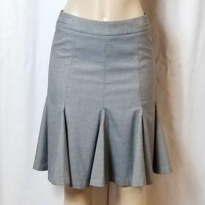 White/Black Drop-Pleat Skirt